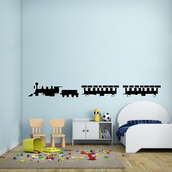 Samolepka na zeď - Vláček