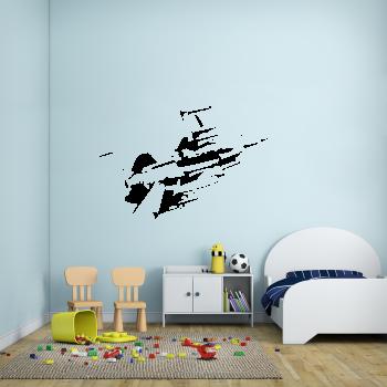 Samolepka na zeď - Bojová stíhačka