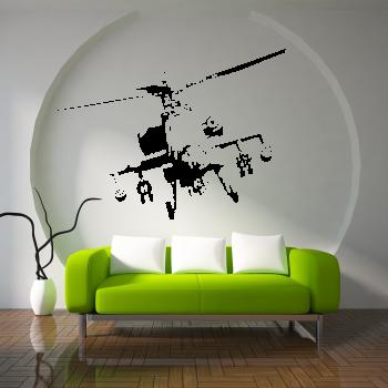 Samolepka na zeď - Vrtulník APAČ