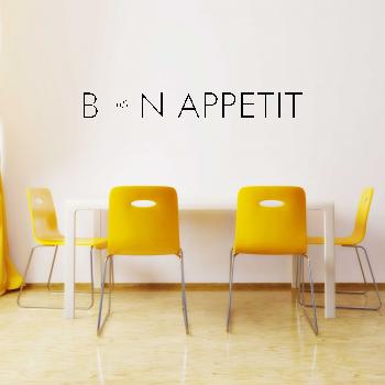 Samolepka na zeď - Bon Appetit 2