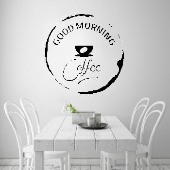 Samolepka na zeď - Good Morning Coffee