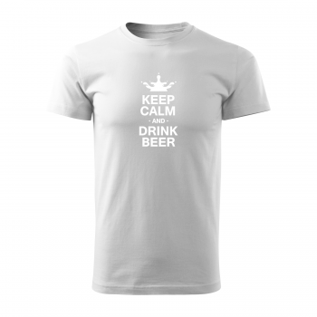 Tričko s potiskem - Keep calm and drink beer