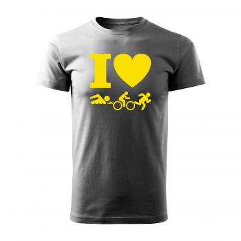 Tričko s potiskem - I love triatlon