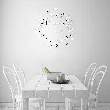 Samolepka na zeď - Nápis kuchyň je srdcem domova