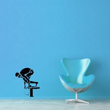 Samolepka na zeď - Plavec