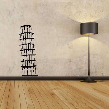 Samolepka na zeď - Šikmá věž v Pise