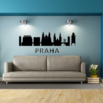 Samolepka na zeď - Praha