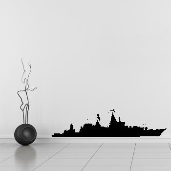 Samolepka na zeď - Válečná loď