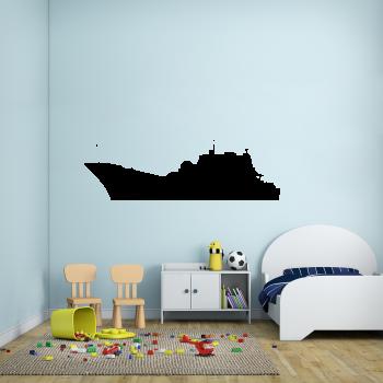 Samolepka na zeď - Bitevní loď