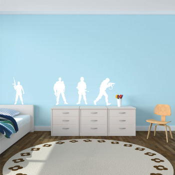 Samolepka na zeď - Vojáci set