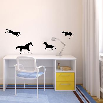 Samolepka na zeď - Koně set