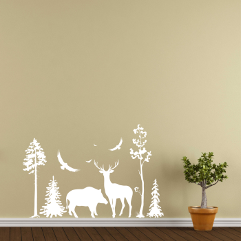 Samolepka na zeď - Les