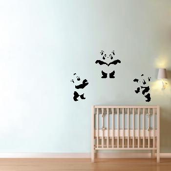 Samolepka na zeď - Pandy set