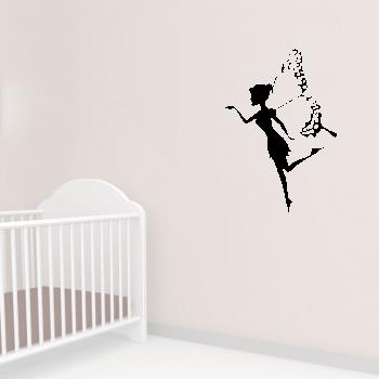Samolepka na zeď - Motýlí víla