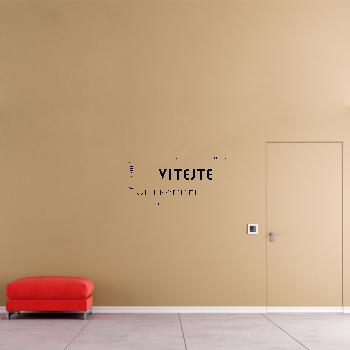 Samolepka na zeď - Vítejte