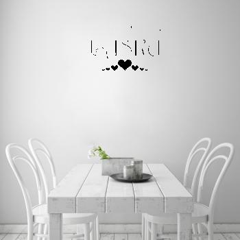 Samolepka na zeď - Recept na lásku