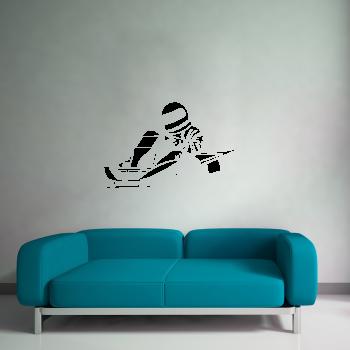 Samolepka na zeď - Motokára