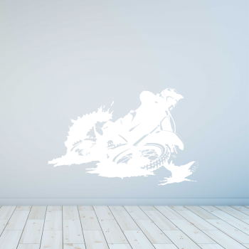 Samolepka na zeď - Motokrosař