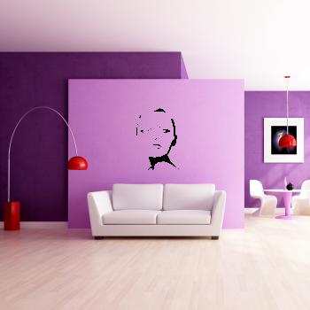 Samolepka na zeď - Tvář ženy