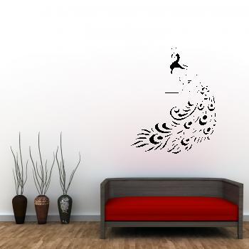 Samolepka na zeď - Páv