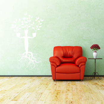 Samolepka na zeď - Lidský strom