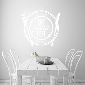 Samolepka na zeď - Eat good nápis