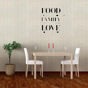 Samolepka na zeď - The bless food nápis