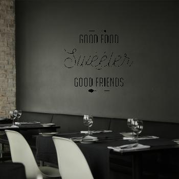 Samolepka na zeď - Good food nápis