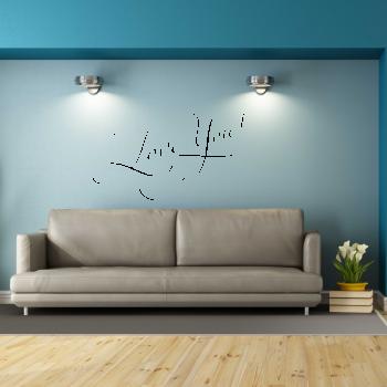 Samolepka na zeď - Love you nápis