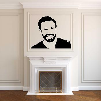 Samolepka na zeď - Chris Evans