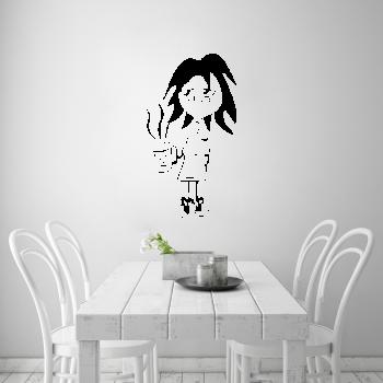 Samolepka na zeď - Ráno s kávou