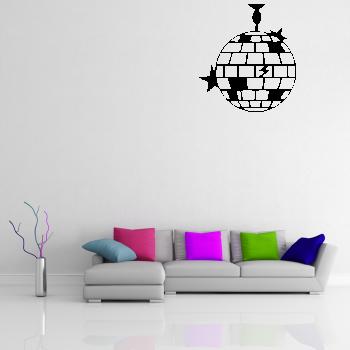 Samolepka na zeď - Disko koule