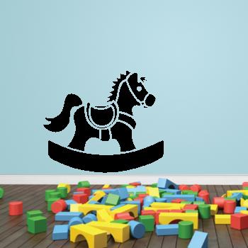 Samolepka na zeď - Houpací koník