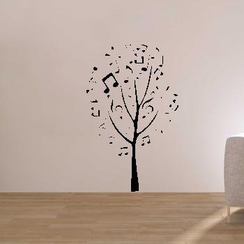 Samolepka na zeď - Hudební strom