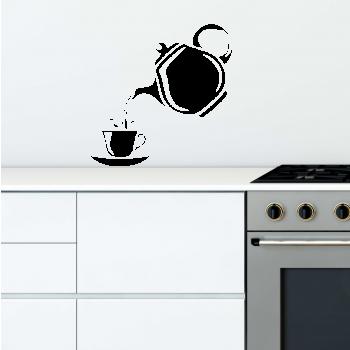 Samolepka na zeď - Šálek čaje