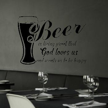 Samolepka na zeď - Beer nápis