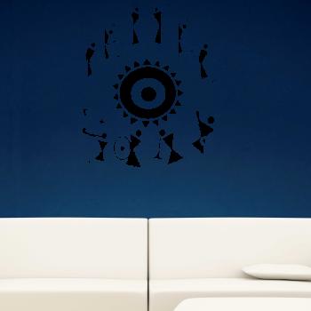 Samolepka na zeď - Ornament hudba