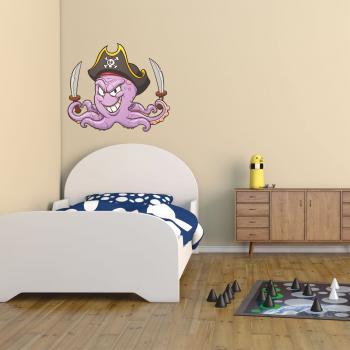 Barevná samolepka na zeď - Chobotnice