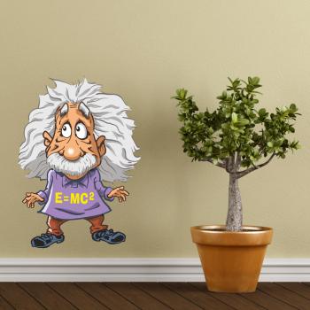Barevná samolepka na zeď - Einstein