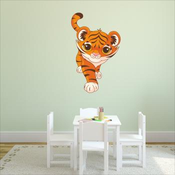 Barevná samolepka na zeď - Tygřík