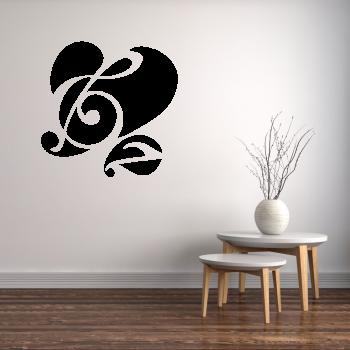 Samolepka na zeď - Láska k hudbě