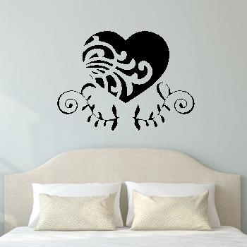 Samolepka na zeď - Ornament srdce