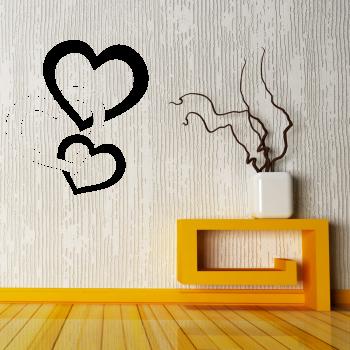 Samolepka na zeď - Propletená srdce