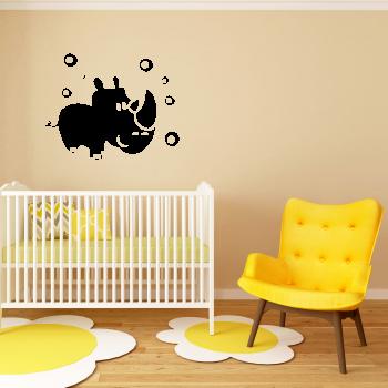 Samolepka na zeď - Nosorožec