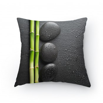 Polštářek - Bambus s kameny