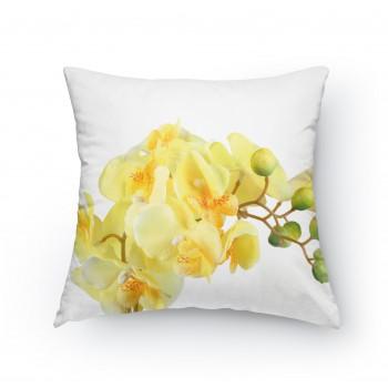 Polštářek - Žlutá orchidej