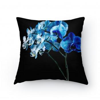 Polštářek - Modrá orchidej