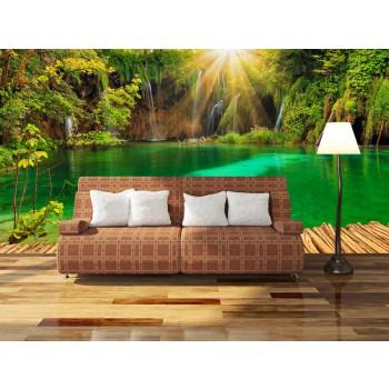 Tapeta - Zelené jezírko