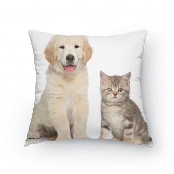 Polštářek - Pejsek a kočička