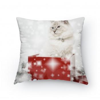 Polštářek - Vánoční kočička
